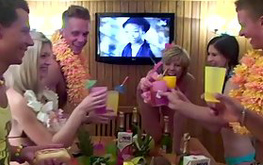 Hawai party will turn into a mass fuck