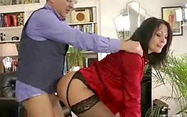 Mature daddy works my cum hole out really wildly